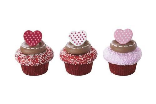 lovecake 节圆点心形纸杯蛋糕戒指(12 件)