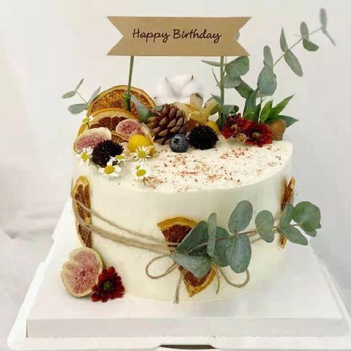 花草森系蛋糕装饰插件花朵树叶恐龙插件绿色女神