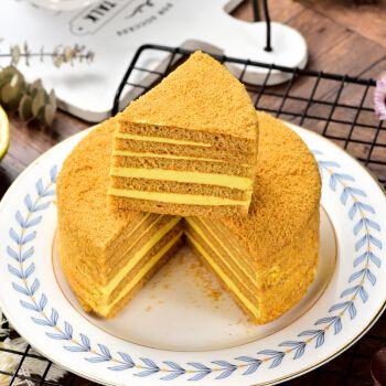 俄罗斯风味提拉米苏蛋糕千层蜂蜜奶油彩虹水果味西式糕点早餐零食