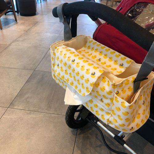 乐豆 多功能防水婴儿车挂袋 床头收纳袋 儿童推车