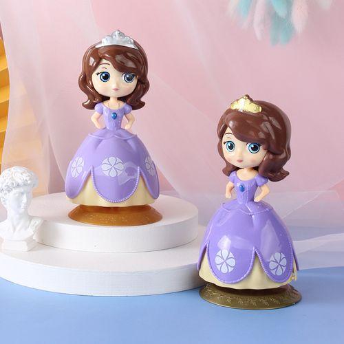 盲盒娃娃公主蛋糕摆件装饰女孩生日烘焙玩汽车摆件
