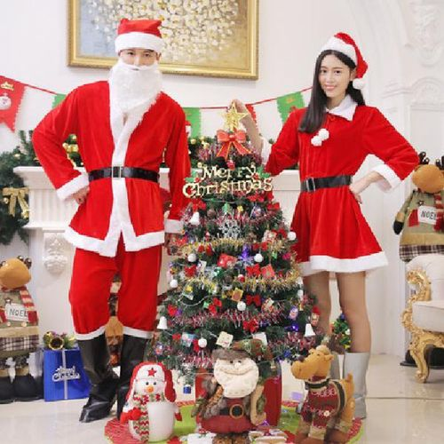 圣诞老人服装成人儿童男女圣诞服衣服演出服套装服饰