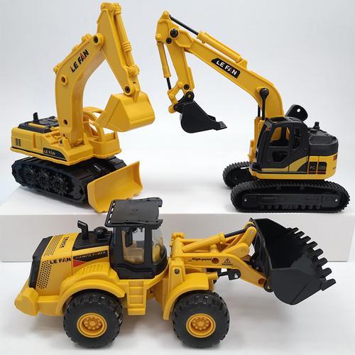 惯性工程车挖掘机模型儿童玩具车耐摔铲车男孩宝挖土