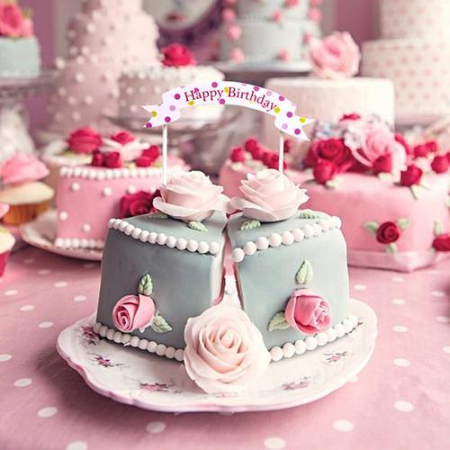 蛋糕装饰插件 装扮插牌生日快乐蛋糕插旗卡通创意烘焙