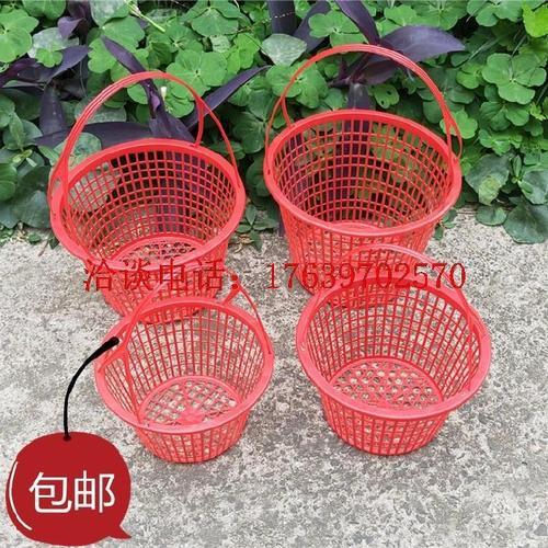 1-12斤塑料水果篮手提带盖采摘筐杨梅蓝草莓葡萄包装