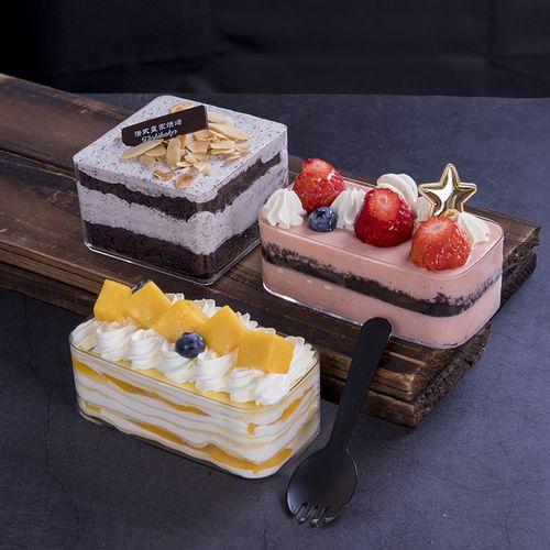 方形塑料透明慕斯蛋糕盒布丁杯曲奇饼干盒水果千层