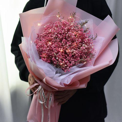 干送糖果满天星花束花大毕业真礼物新年礼品老婆生日