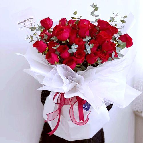 母亲节鲜花台州红香槟粉玫瑰花束生日礼盒速递送女友