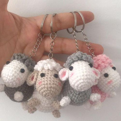 毛线编织手工玩偶小绵羊可爱挂件diy手作打发时间毛线
