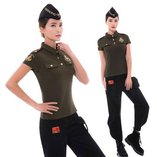 2021夏季新款纯棉t恤水兵舞修身背心翻领纯色短袖户外