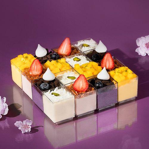 熊猫不走 缤纷世界 16拼 芒果草莓蓝莓白巧克力慕斯 下午茶生日蛋糕