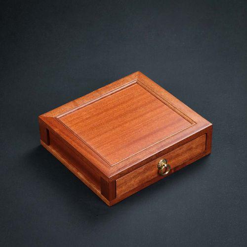 普洱茶盒收纳盒实木茶仓茶饼单层抽屉式花梨木分茶盘