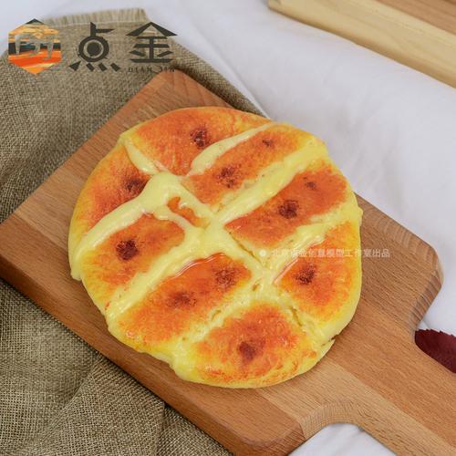 网红仿真爆浆榴莲芝士饼品模型甜品面包披萨食物食品