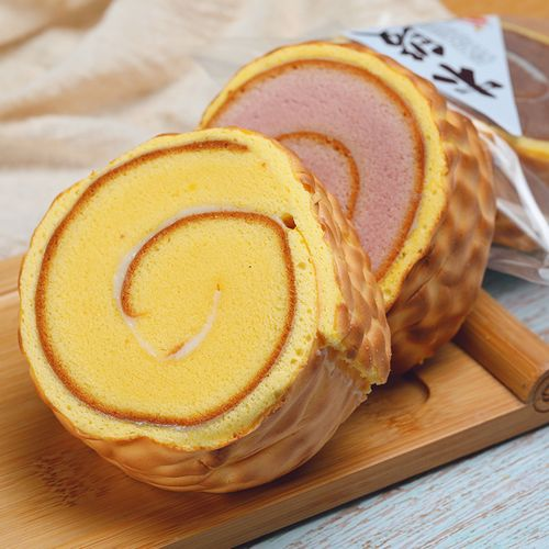 木段虎皮蛋糕卷好吃的面包早餐食品速食蛋糕零食 【紫薯口味5袋】600g