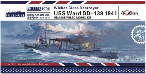 鹰翔 fh1106 1/700 二战美国沃德号驱逐舰dd-139
