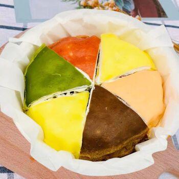 网红六拼千层蛋糕彩虹蛋糕爆浆奶油榴莲千层休闲零食甜品糕点 6拼千层