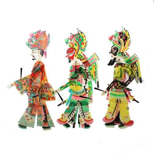 皮影操纵杆人物陕西皮影戏人物带动感可表演的皮影三国