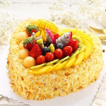 芙瑞多 心形水果蛋糕8寸生日蛋糕新鲜制作当日送达送女朋友送老婆