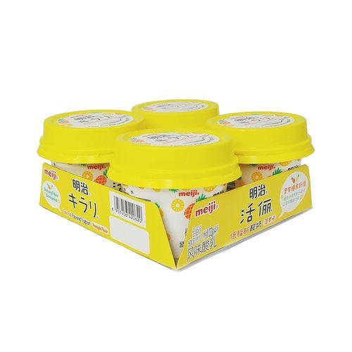 明治活俪低脂肪酸奶(菠萝味)100g*4/组