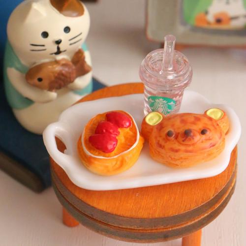 riddle*store~dollhouse日本散裝re-ment迷你食玩~輕松熊麵包蛋糕