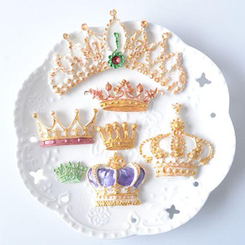 欧式皇冠集合 硅胶翻糖模具  巧克力 粘土 烘焙diy蛋糕装饰