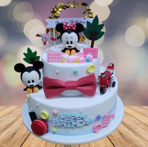 仿真水果蛋糕模型双层卡通蛋糕暴富蛋糕新款网红草莓