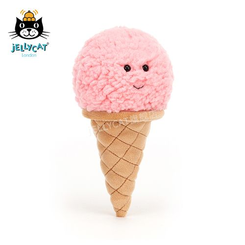 jellycat 2021新品迷人草莓冰淇淋可爱公仔儿童安抚毛绒玩具睡觉玩偶