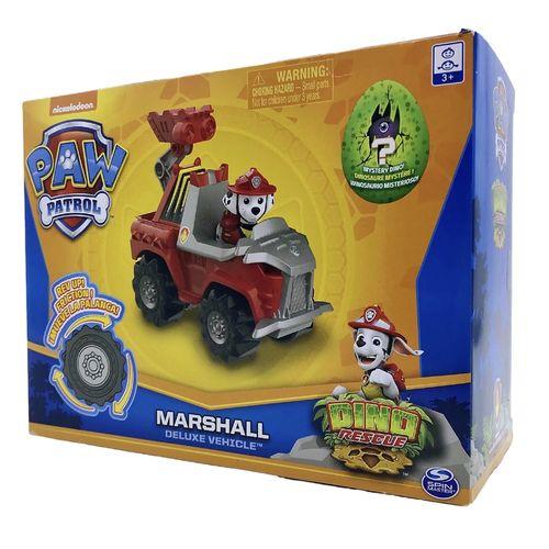 旺旺对队玩具美国新款汪汪队立大功玩具恐龙救援变形回力惯性巡逻车
