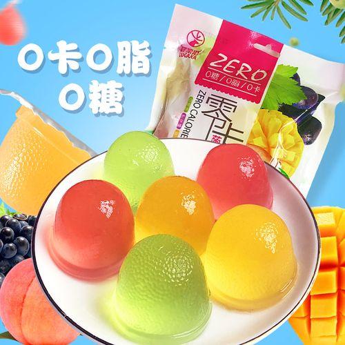 鹿家港零卡蒟蒻果冻魔芋果汁布丁0脂0糖混合味办公室
