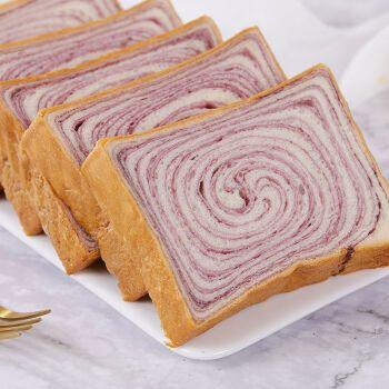 【2斤】紫薯木纹吐司面包早餐网红零食品代餐全麦面包