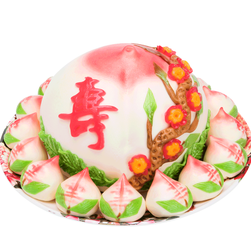 寿盈门寿桃礼盒老人生日蛋糕点心过寿贺寿宴会馒头寿桃包礼盒送礼