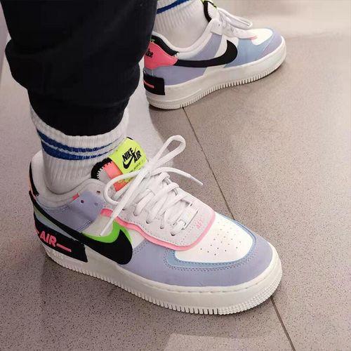 【潮】nike af1耐克板鞋女子夏季新款低帮空军一号马卡龙透气休闲轻便