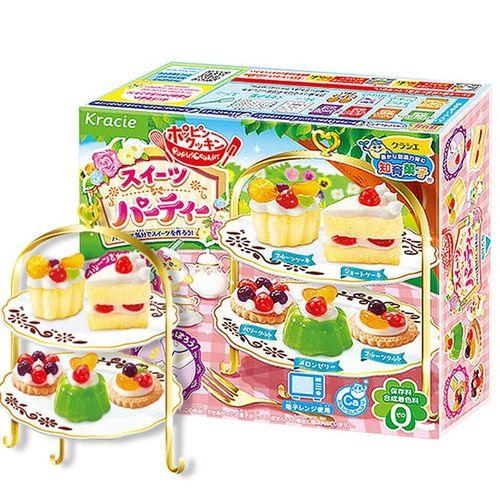 日本进口食玩 嘉娜宝(kracie) 生日蛋糕造型 甜点布丁亲子游戏套装