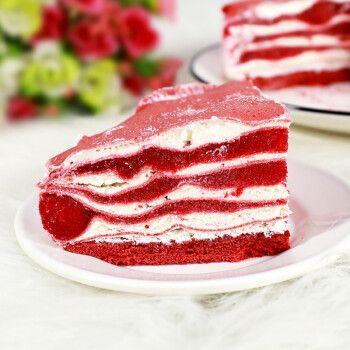 约6寸新鲜榴莲果肉草莓芒果巧克力千层糕点点心甜品零食生日蛋糕小吃