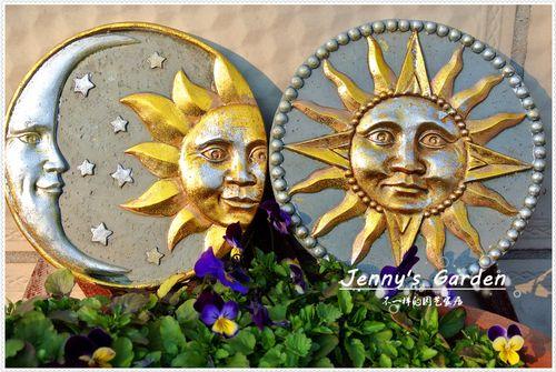 地中海风格水泥圆盘摆件 希腊神话太阳神踏步石 花园