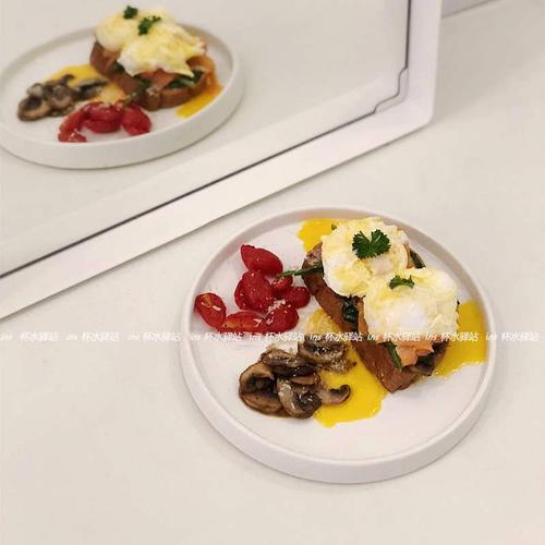 ins纯白色陶瓷牛排盘简约蛋糕盘水果盘下午茶点心盘水果沙拉盘