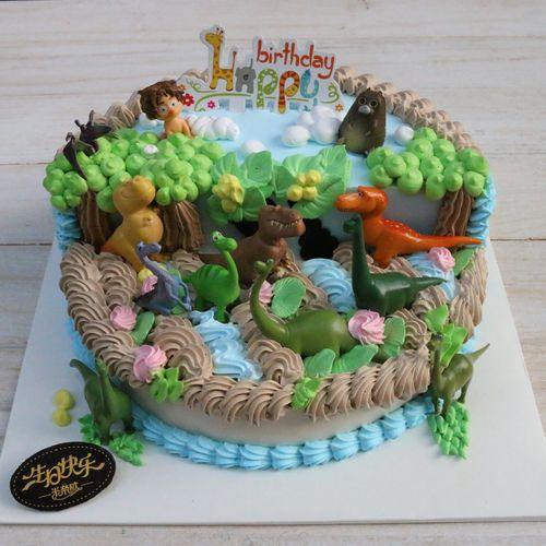 恐龙当家 生日蛋糕烘培装饰 12款场景摆件 成人手办