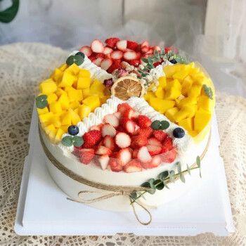 圣诞新款新鲜水果蛋糕全国预定同城配送爱人爸妈儿童祝寿网红生日蛋糕