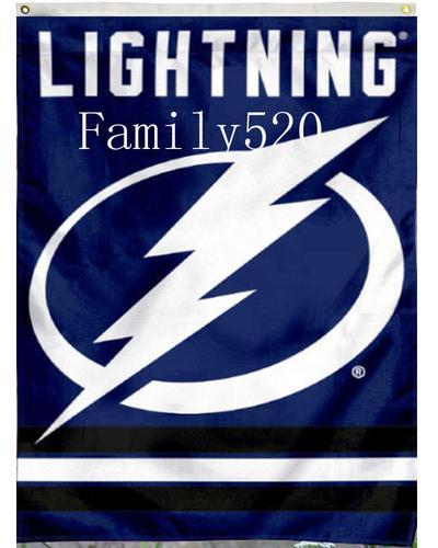 外贸坦帕湾闪电队球迷旗 nhl tampa bay lightning hockey flag