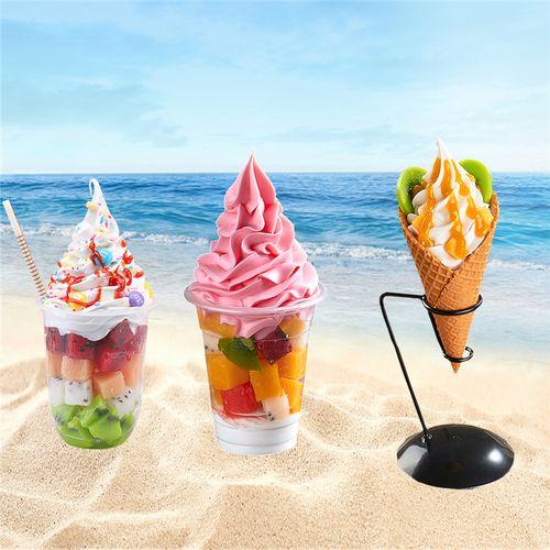 水果圣代模型新地圣代模型冒烟冰淇淋模型淇淋