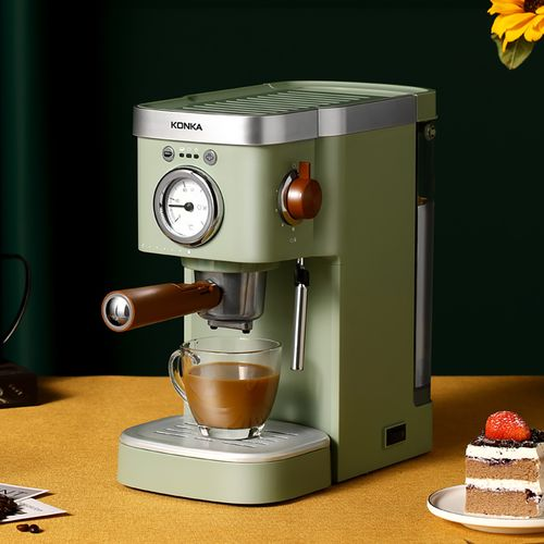 康佳咖啡机家用意式半自动胶囊高压萃取蒸汽打奶复古