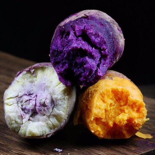 【精选果蔬】红薯组合紫薯新鲜冰淇淋小香薯沙地密薯板栗薯农家番薯