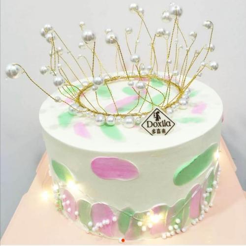 6寸 珍珠皇冠 蛋糕(祁东)