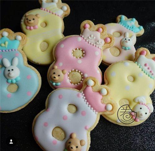 新品王冠数字糖霜饼干蛋糕装饰饼干模具立体切模