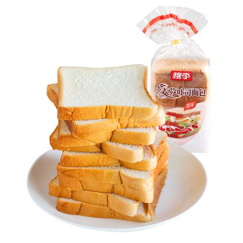 桃李麦芬吐司原味/全麦双口味 短保新鲜饱腹切片 400g