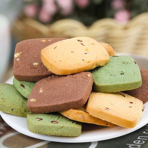 曲奇饼干整箱榛子巧克力西饼干手工好吃的休闲小吃零食品多口味 曲奇