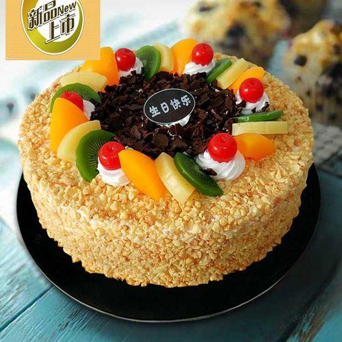 广州馨馨花生碎水果新款仿真生日蛋糕模型样品塑胶欧式摆件假蛋糕