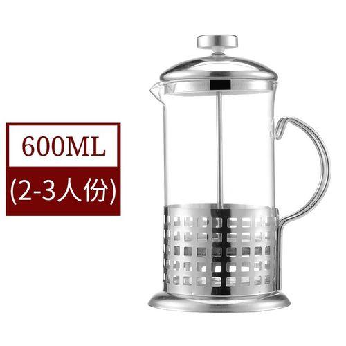 滤压壶抽拉咖啡杯分离杯冲过滤网塔法压力玻璃亮光乌普家用煮泡杯