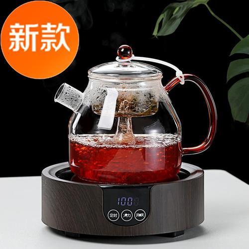 功夫茶壶泡茶壶耐热玻璃蒸煮茶壶单i壶耐高温过滤大号煮茶器