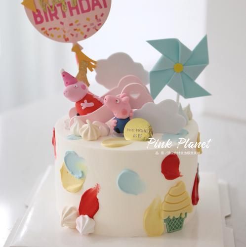 pink planet 品客 儿童生日蛋糕